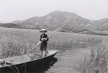 苗を積んできた舟