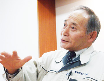 亀田郷土地改良区理事長 山我森實さん